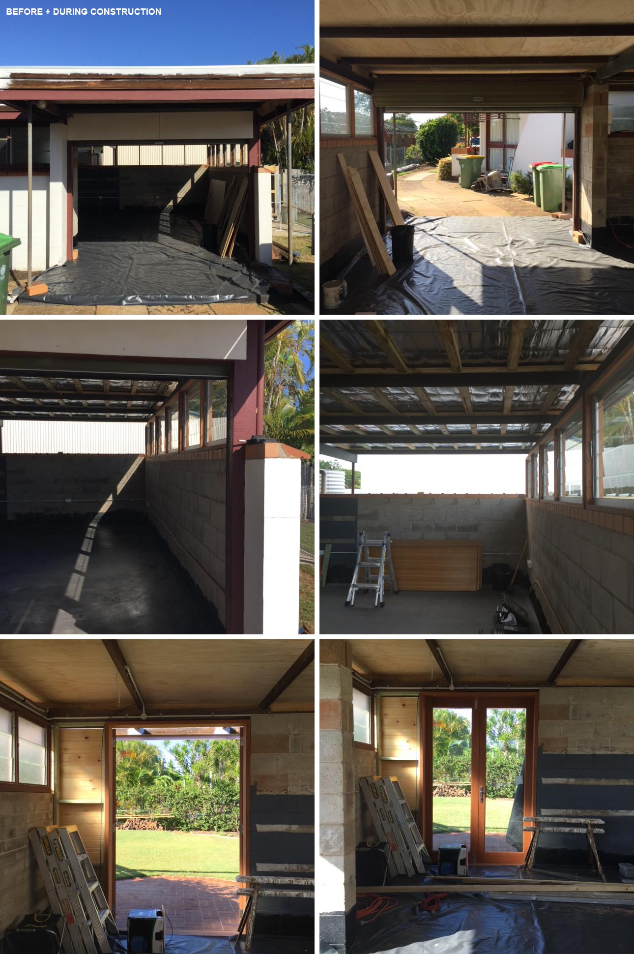 BEFORE PHOTOS - A converted carport acts as an office for 4-5 people, and can be transformed into a secondary suite if needed one day.