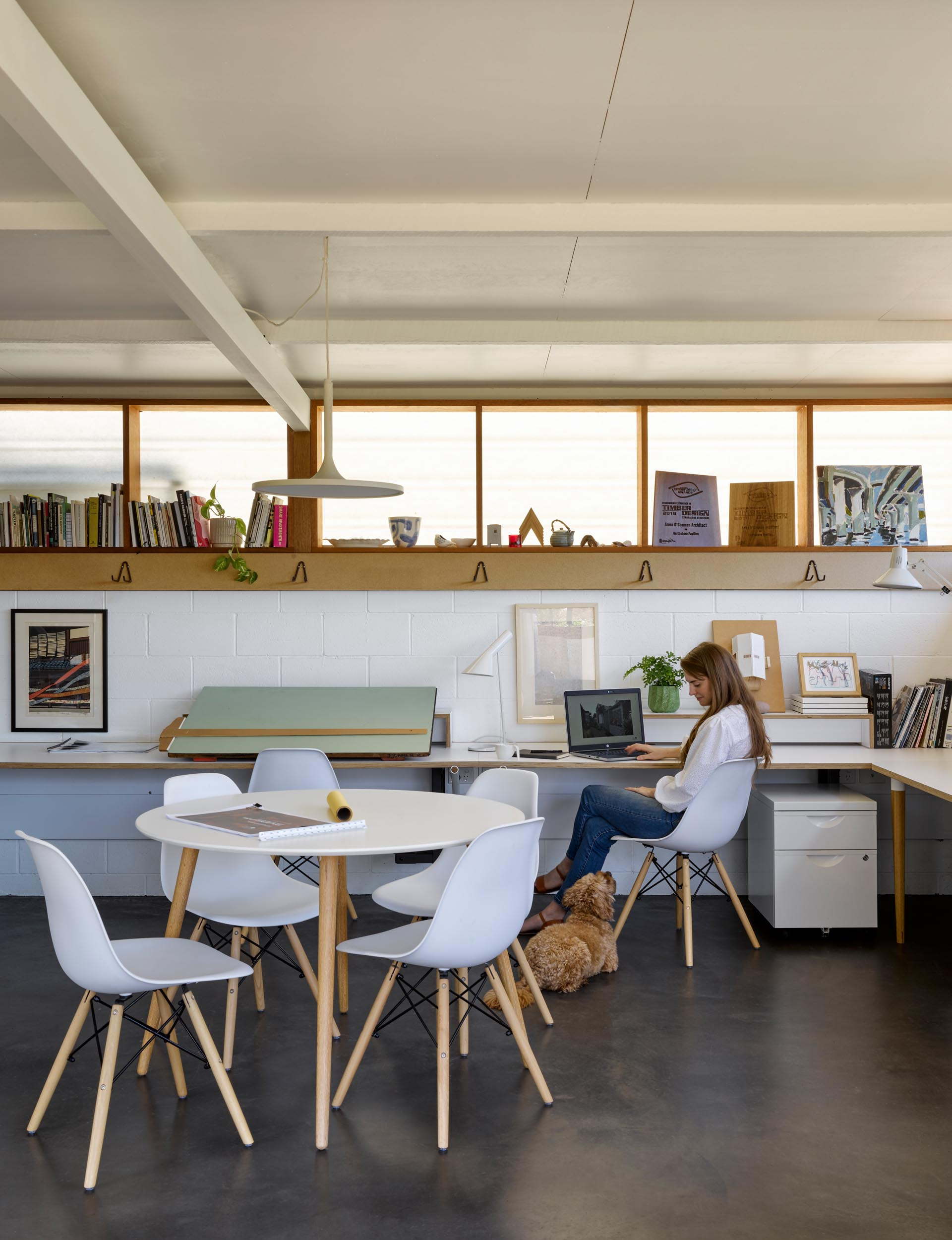 A converted carport is now an office for 4-5 people, and can be used as a secondary suite in the future.