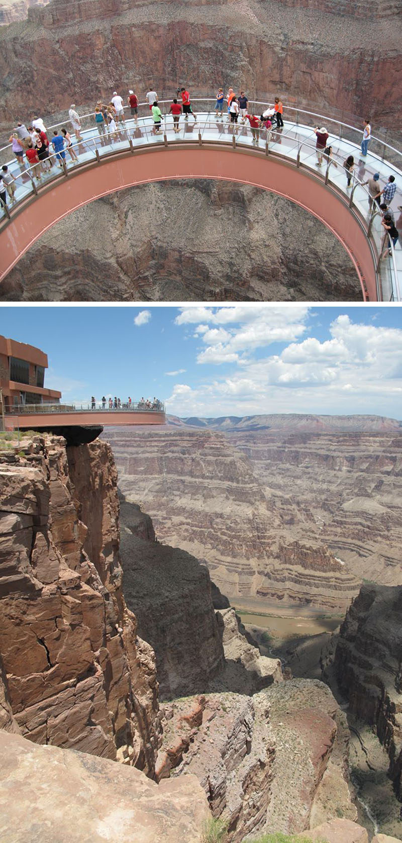 17 Tourist Activities That Would Be A Nightmare For People With A Fear Of Heights // The Grand Canyon Skywalk - Peach Springs, Arizona