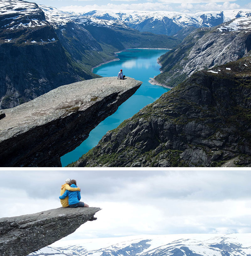 17 Tourist Activities That Would Be A Nightmare For People With A Fear Of Heights // Trolltunga Cliff - Odda, Norway