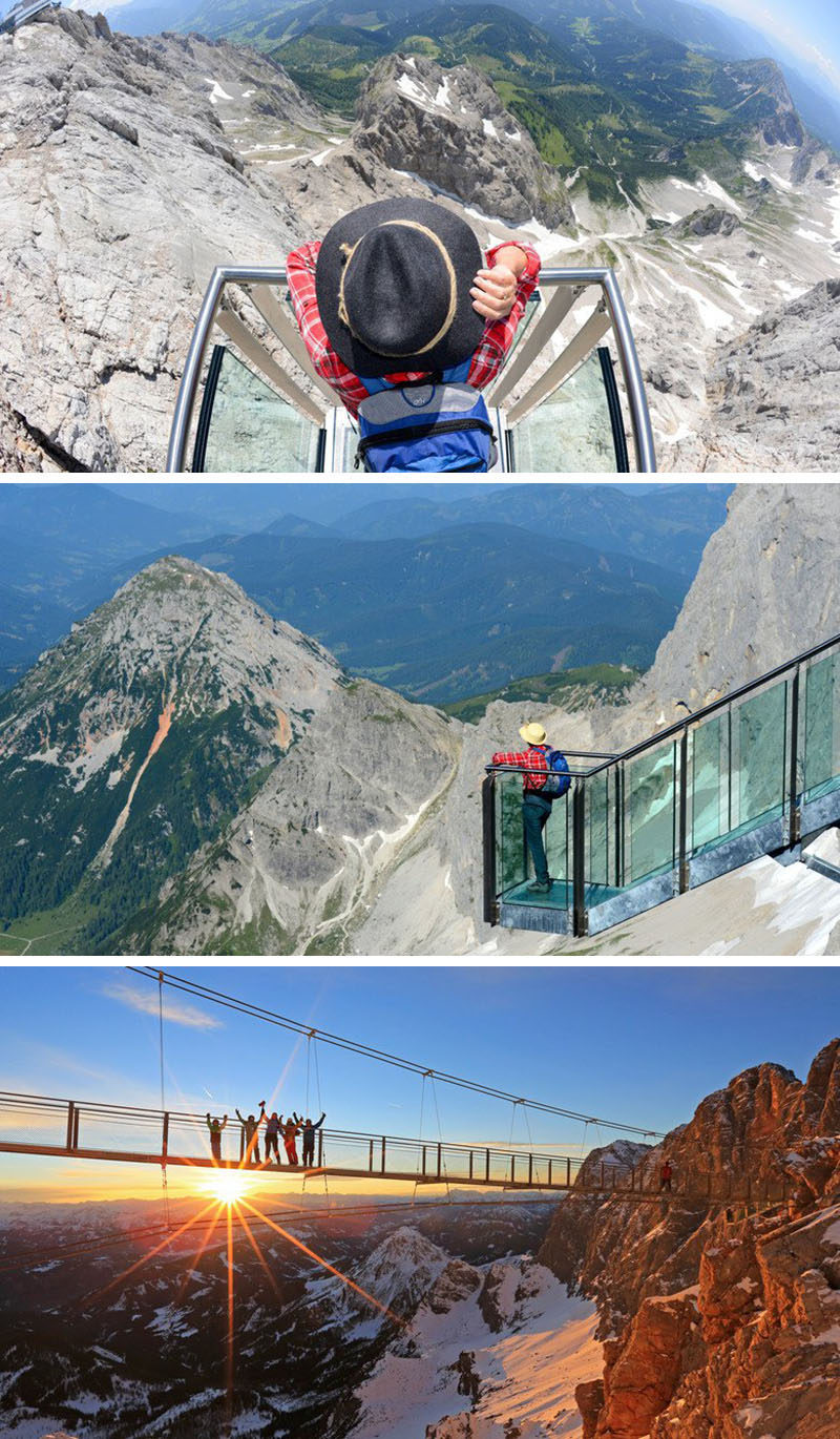 17 Tourist Activities That Would Be A Nightmare For People With A Fear Of Heights // Stairway to Nothingness on the Dachstein Glacier - Schildlehen, Austria