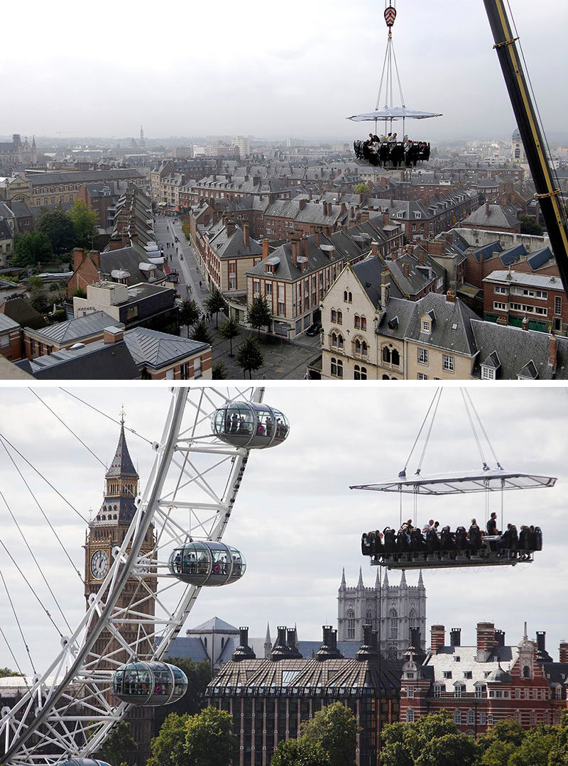 17 Tourist Activities That Would Be A Nightmare For People With A Fear Of Heights // Dinner in the Sky
