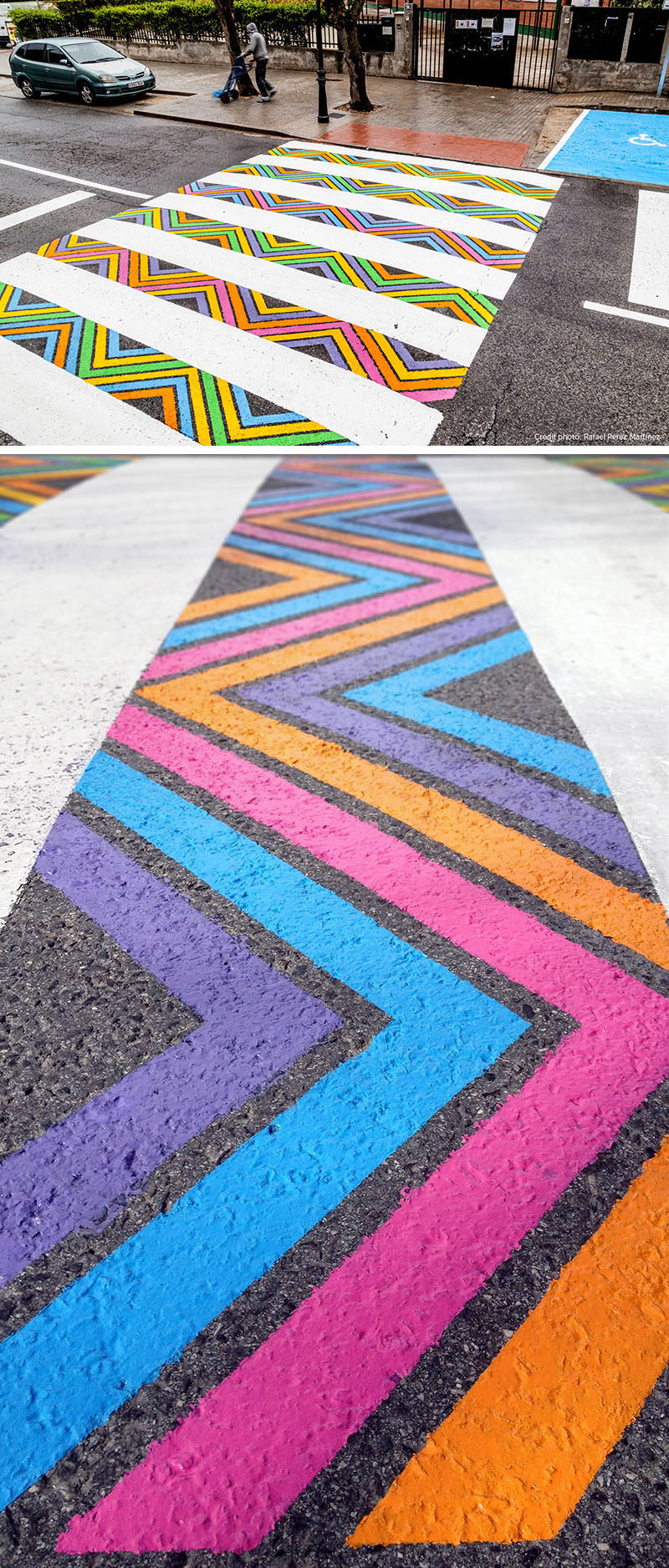 Colorful And Artistic Crosswalks Are Showing Up On The Streets Of Madrid