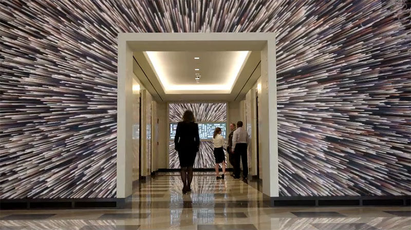 This Motion-Activated Mural Inside Terrell Place In Washington DC, Moves When You Do