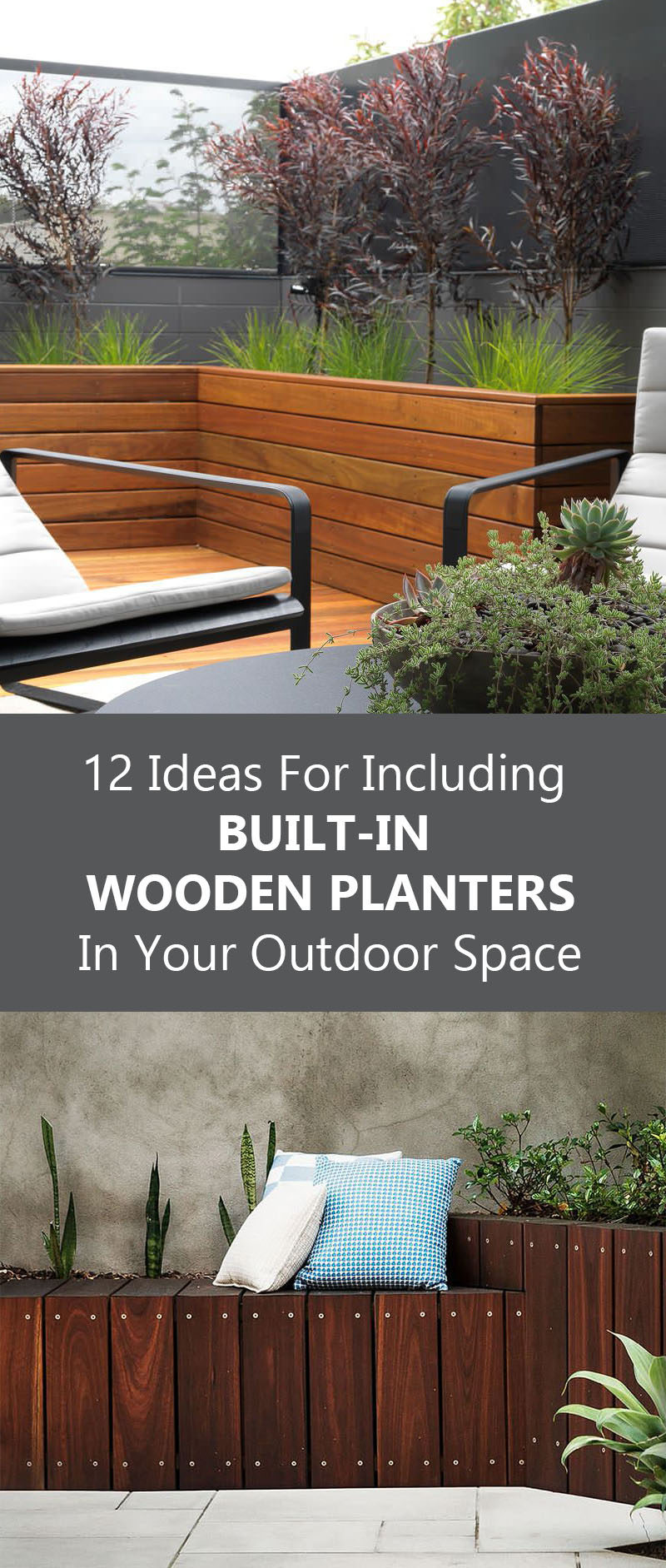 12 Ideas For Including Built-In Wooden Planters In Your Outdoor Space