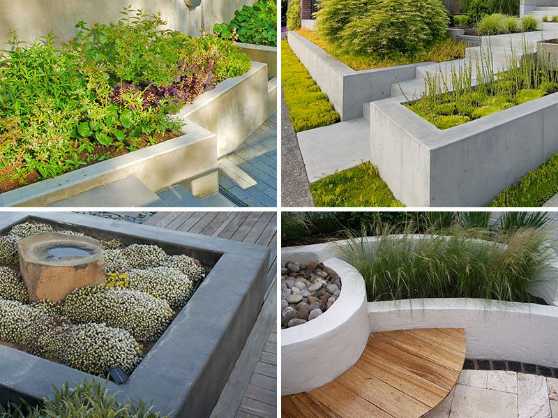 10 Inspirational Ideas For Including Custom Concrete Planters In Your Yard