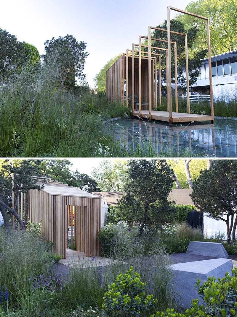 12 Inspirational Garden Designs From The 2016 Chelsea Flower Show // The Cloudy Bay Garden, designed by Sam Ovens.