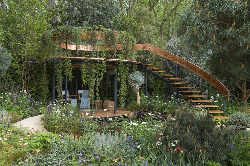 12 Inspirational Garden Designs From The 2016 Chelsea Flower Show // The Winton Beauty of Mathematics Garden, designed by Nick Bailey.