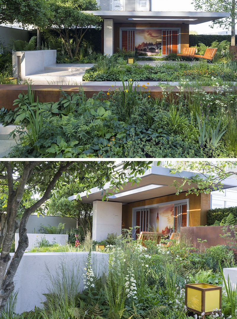 12 Inspirational Garden Designs From The 2016 Chelsea Flower Show // Vestra Wealth's Garden of Mindful Living, designed by Paul Martin.