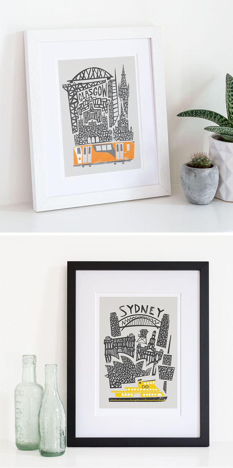 DECOR IDEA - Fill Your Walls With Art Prints Of Your Favorite Cities