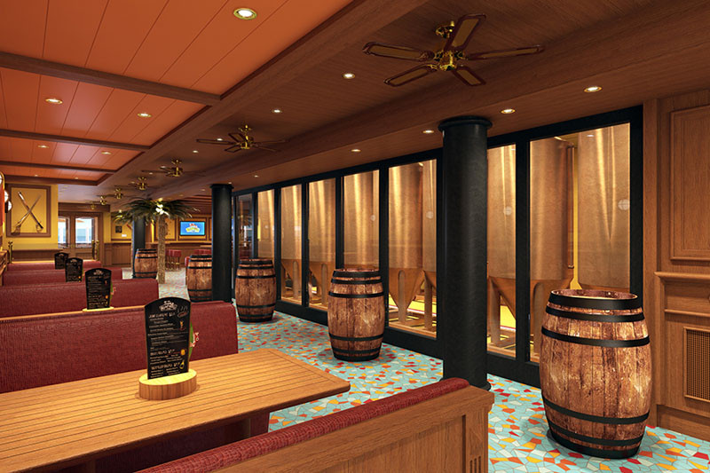 20 Of The Craziest Things You'll Find On Cruise Ships! // Drink a beer that was brewed right on the ship. Carnival's newest ship, Vista, has an onboard brewery where they make their very own beer.