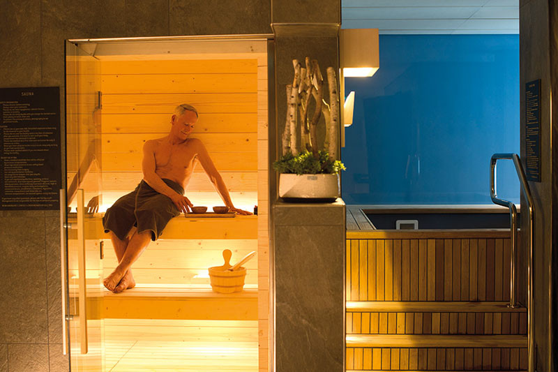 20 Of The Craziest Things You'll Find On Cruise Ships! // On the Viking Star cruise ship is a sauna which provides the warmth before and after the Snow Grotto.