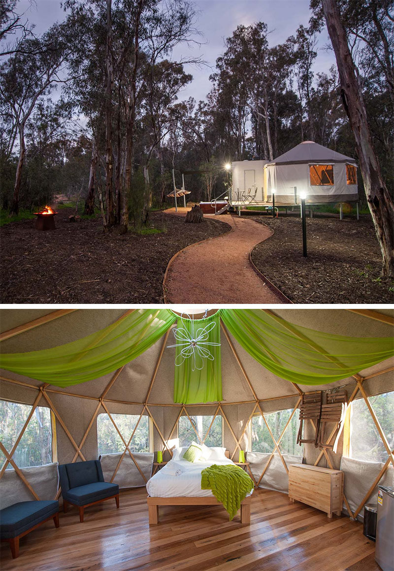 10 Glamping Destinations For People Who Want To Go Camping But Need The Luxuries Of A Hotel // Talo Retreat at Moama on Murray Resort - Moama, Australia