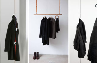 Interior Design Idea – Coat Racks That Hang From The Ceiling