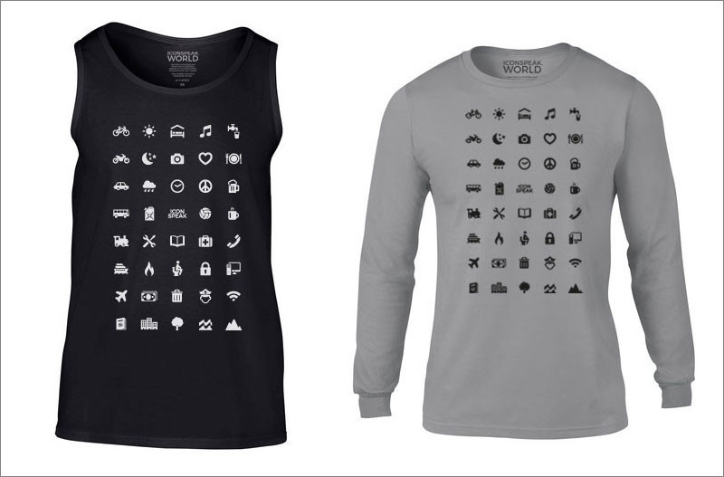These t-shirts are designed help you to communicate when you are travelling