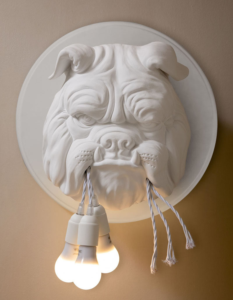 Italian lighting company KARMAN have recently launched their latest collection, and part of that collection is Amsterdam, a fun and quirky bulldog wall lamp designed by Matteo Ugolini. #Lighting #WallLamp #FunLighting #Bulldog #Dogs