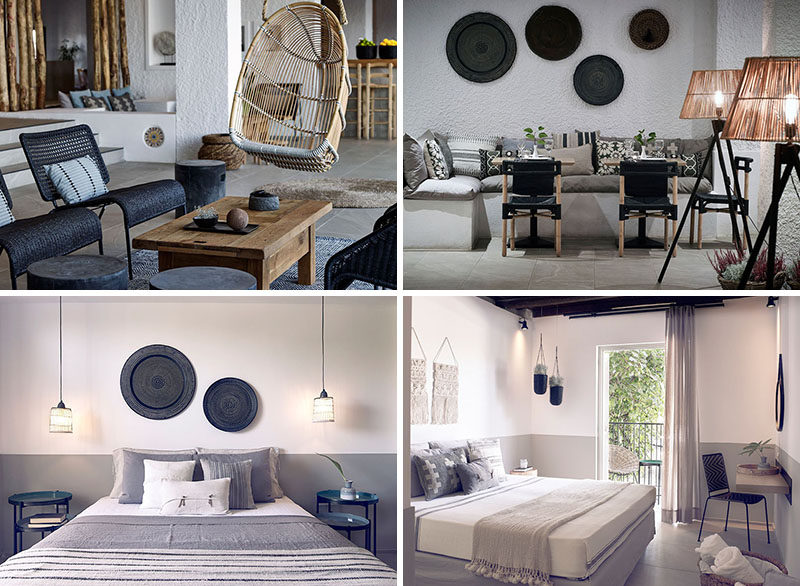 Traditional Greek design details with a few modern twists, the Skiathos Blu hotel is the perfect mix of authentic Greek style and modern design.
