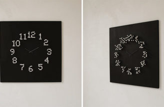 This Wall Clock Changes Shape When You Walk Around It
